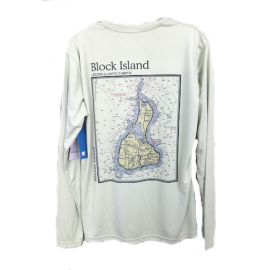 Block Island Map Performance Shirt